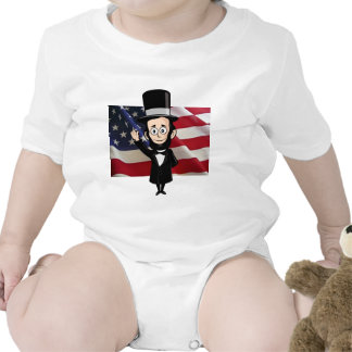 Honest Abe and American Stars and Bars Waving T Shirts