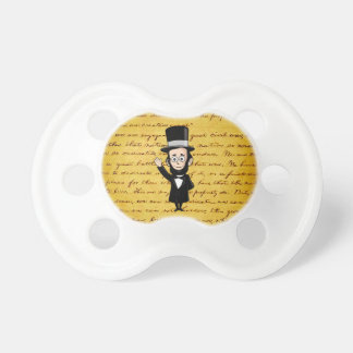 Honest Abe and His Gettysburg Address Baby Pacifiers