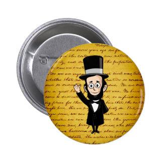 Honest Abe and His Gettysburg Address Pinback Button