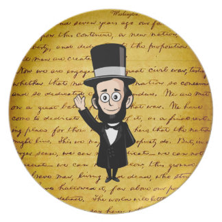 Honest Abe and His Gettysburg Address Dinner Plates
