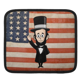 Honest Abe and Ragged Glory Vintage American Flag Sleeve For iPads