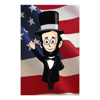 Honest Abe Lincoln and Old Glory Personalised Stationery