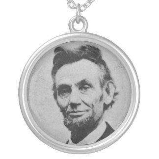 Honest Abe Round Pendant Necklace