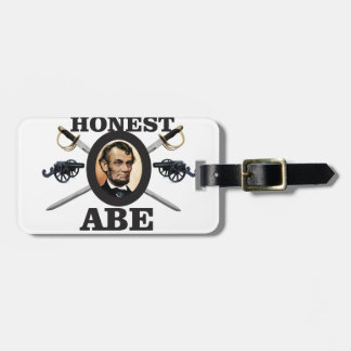 honest abe with swords luggage tag