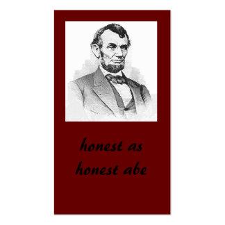 honest as honest abe pack of standard business cards