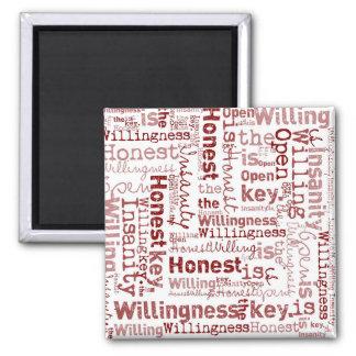 Honest Open Willing Square Magnet