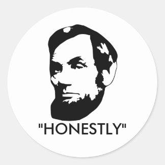 Honestly Abe Round Sticker
