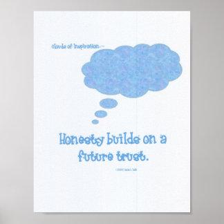Honesty builds trust poster