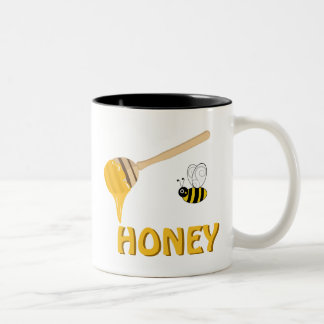Honey and Honey Bee Cup Coffee Mugs