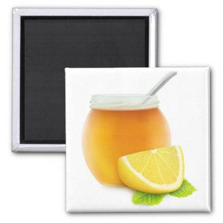 Honey and lemon square magnet