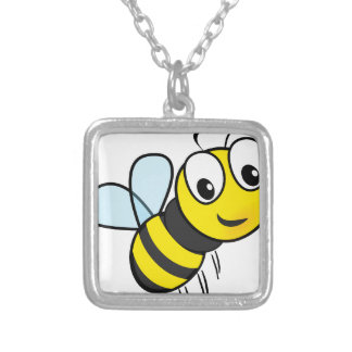 honey art fly silver plated necklace