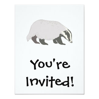 honey badger 11 cm x 14 cm invitation card
