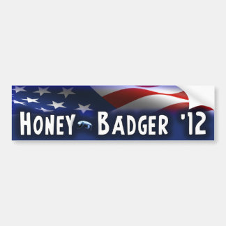 Honey Badger '12 - Election 2012 Bumper Sticker