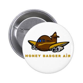 honey badger air 6 cm round badge