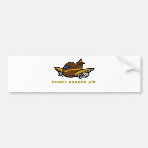 honey badger air bumper sticker