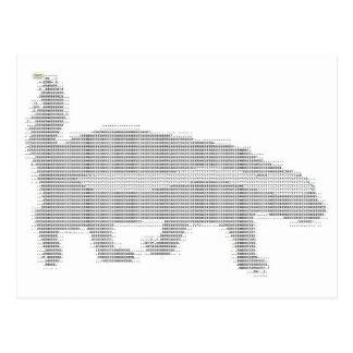 honey badger ascii postcard