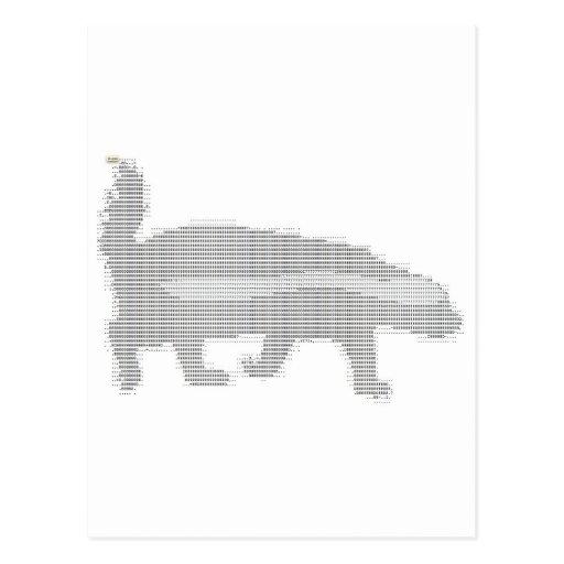 honey badger ascii post cards