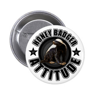 Honey Badger ATTITUDE - Round Design 6 Cm Round Badge