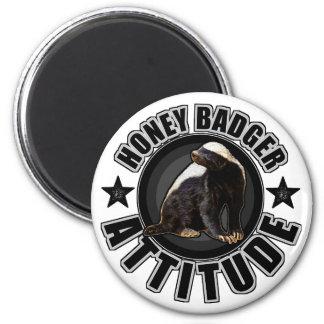 Honey Badger ATTITUDE - Round Design 6 Cm Round Magnet