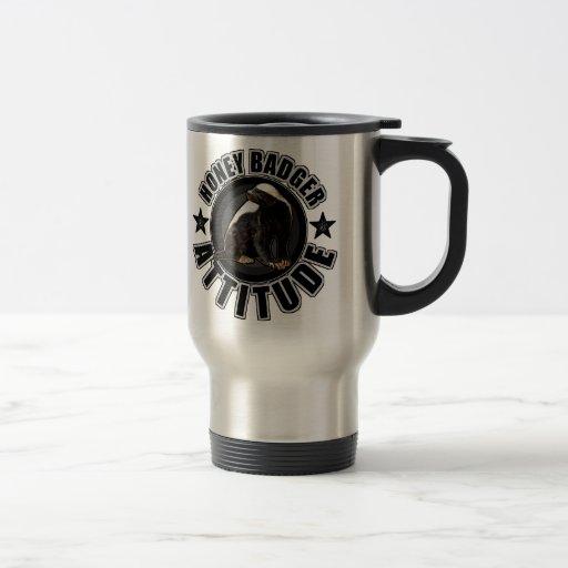 Honey Badger ATTITUDE - Round Design Coffee Mugs