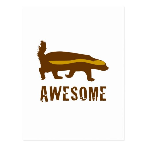 Honey Badger Awesome Post Cards