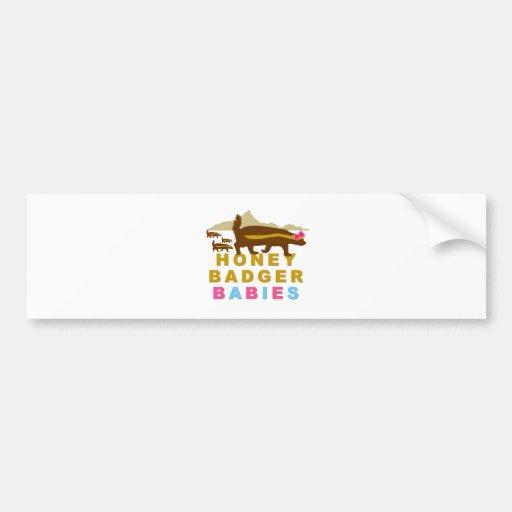 honey badger babies bumper sticker