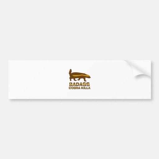 Honey Badger - Badass Cobra Killa Bumper Stickers