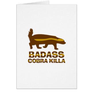 Honey Badger - Badass Cobra Killa Greeting Card