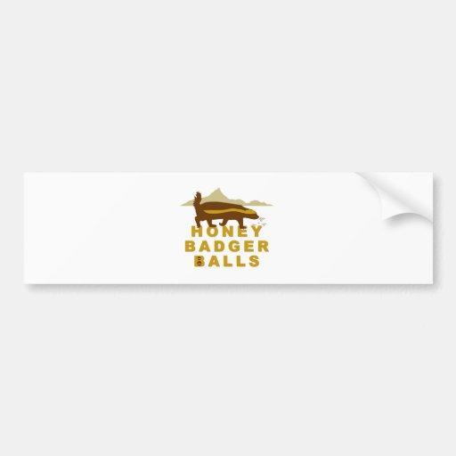 Honey Badger Balls Bumper Stickers
