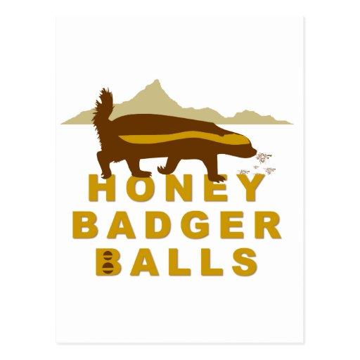 Honey Badger Balls Postcard