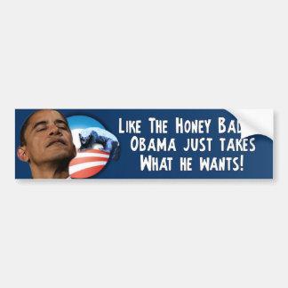 Honey Badger - Barack Obama Bumper Sticker