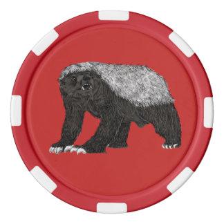 Honey Badger Baring his Teeth Poker Chips