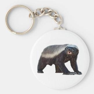 Honey Badger Basic Round Button Key Ring