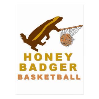 Honey Badger Basketball Post Cards