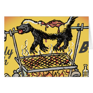 Honey Badger BBQ Greeting Card