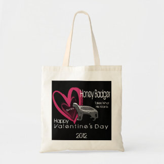 Honey Badger Be Mine Valentine's Day Tote Bag