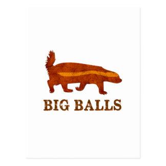 Honey Badger Big Balls Postcard
