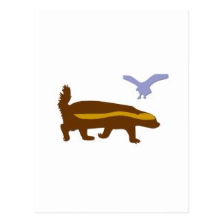 Honey Badger Bird Postcard