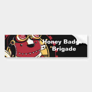 Honey Badger Brigade Bumper Sticker