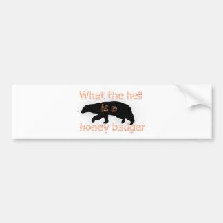 Honey Badger Bumper Sticker