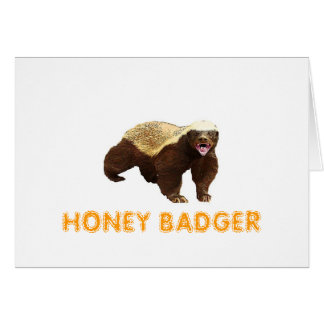Honey Badger Greeting Card