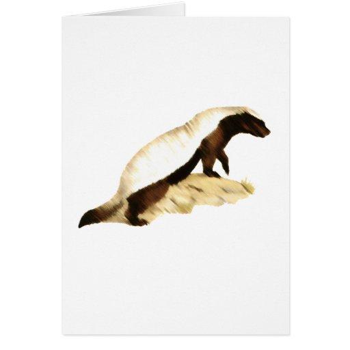 honey badger greeting cards