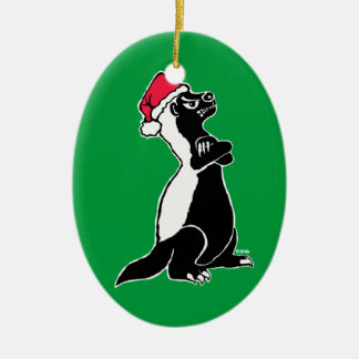 Funny wild animals christmas tree decorations ornaments for Badger christmas decoration