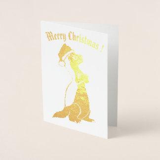 Honey badger Christmas Foil Card