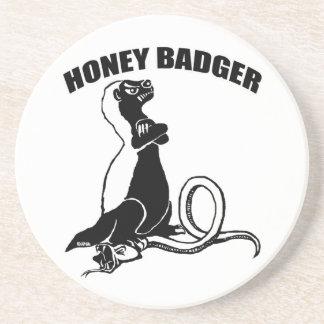 Honey badger coaster