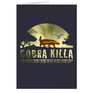 Honey Badger Cobra Killa Greeting Card