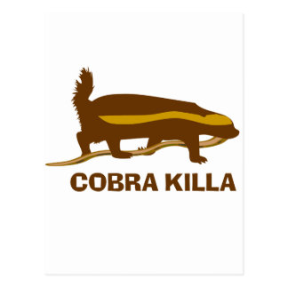 Honey Badger Cobra Killa Postcards