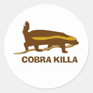 Honey Badger Cobra Killa Round Sticker