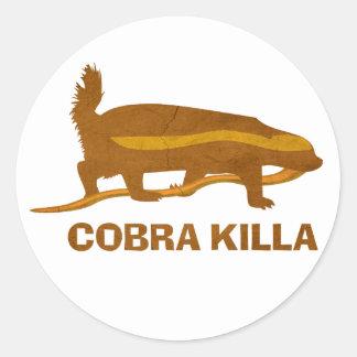 honey badger cobra killa round stickers