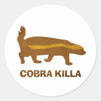 Honey Badger Cobra Killa Vintage Stickers
